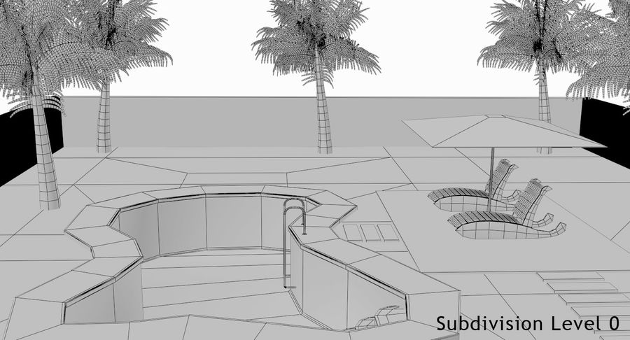 Swimming Pool royalty-free 3d model - Preview no. 31