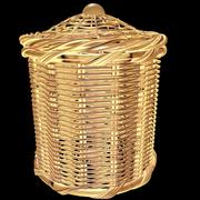 bathroom rattan basket 3d model