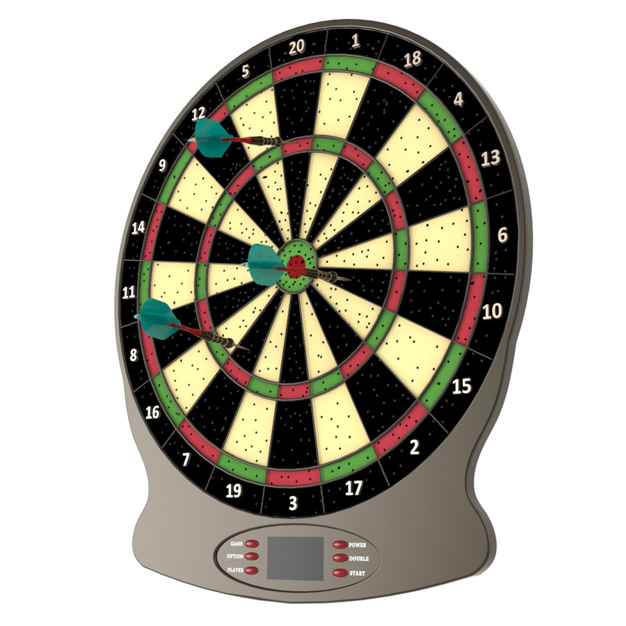 Dart oyunu royalty-free 3d model - Preview no. 3
