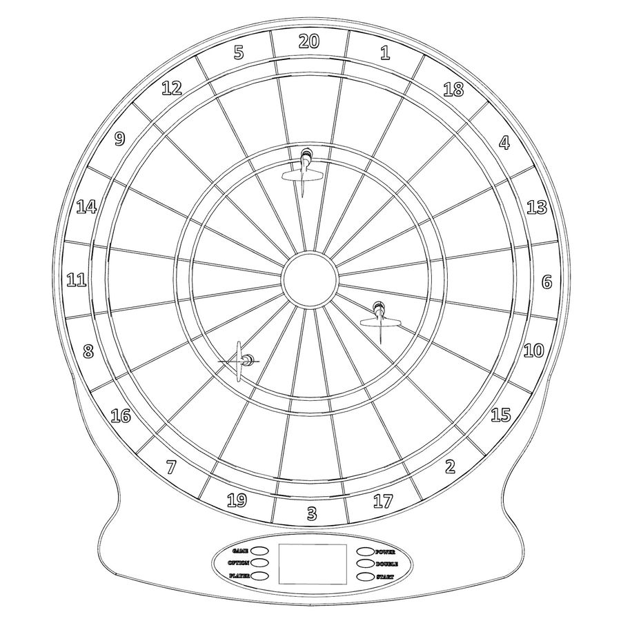 Dart oyunu royalty-free 3d model - Preview no. 10