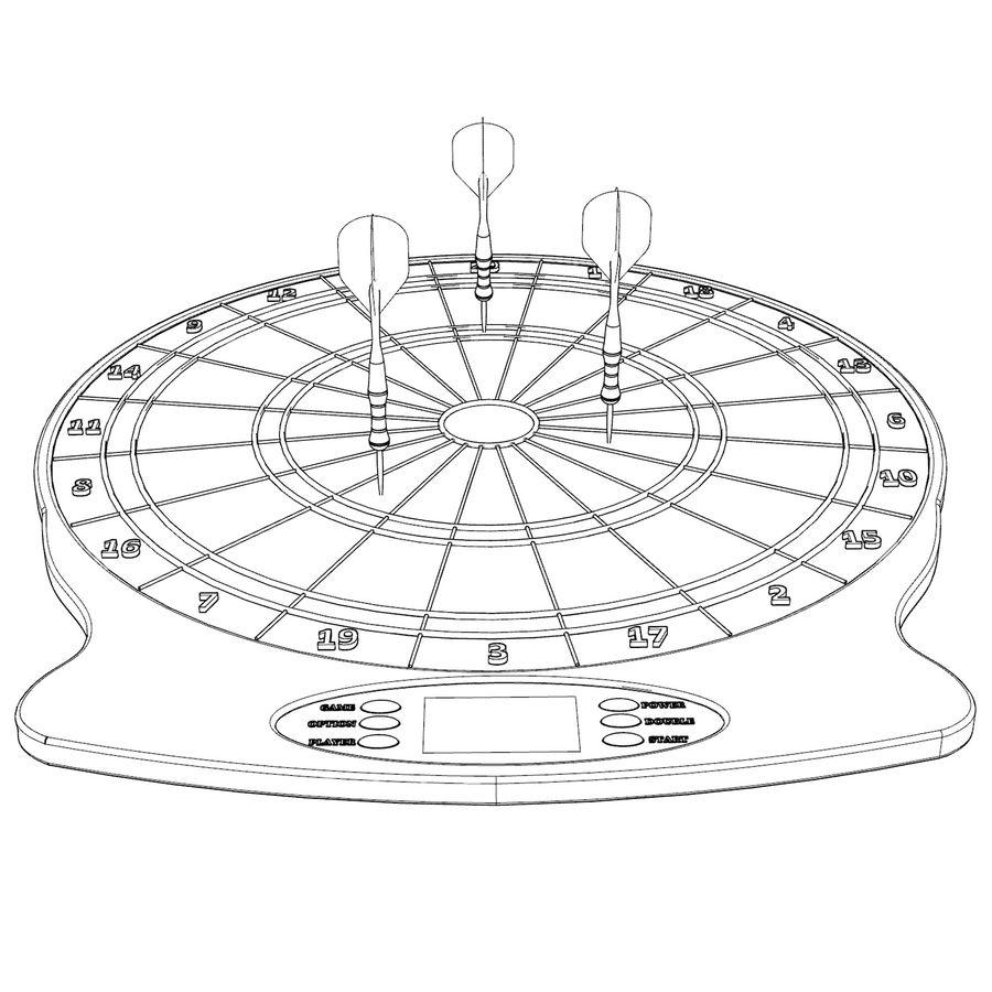 Dart oyunu royalty-free 3d model - Preview no. 8