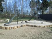 Corrediça do parque de diversões Lowpoly 3d model