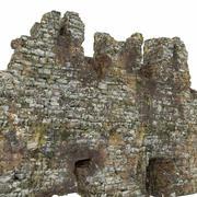 废墟墙 3d model