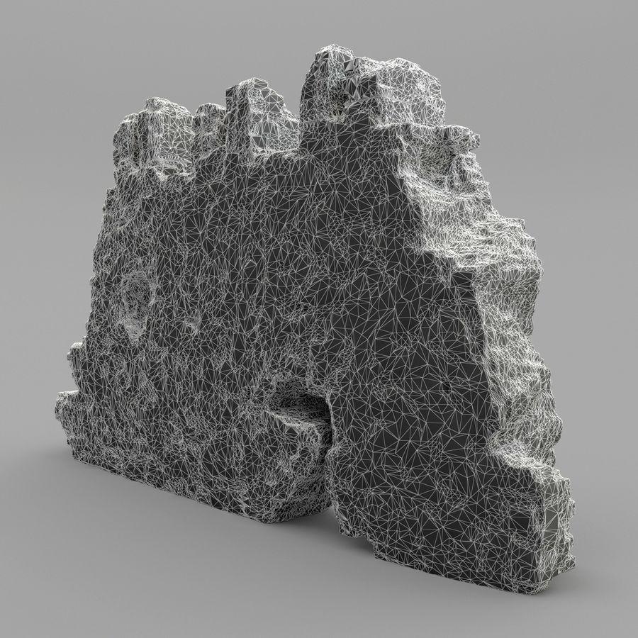 废墟墙 royalty-free 3d model - Preview no. 10