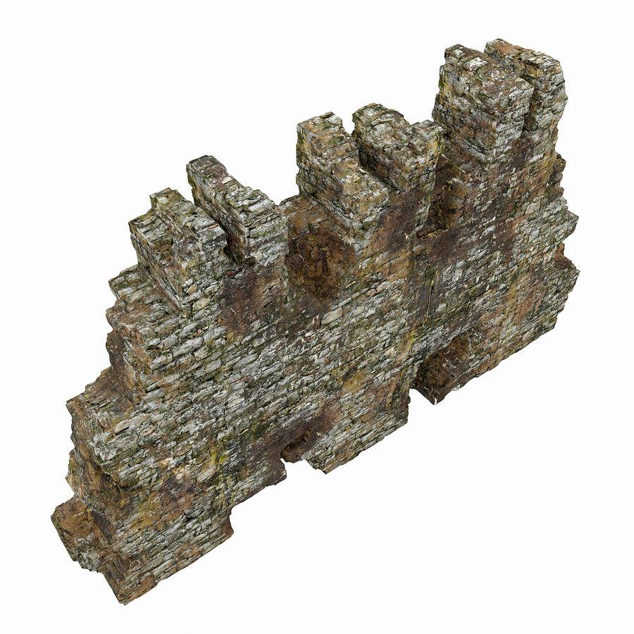 废墟墙 royalty-free 3d model - Preview no. 8