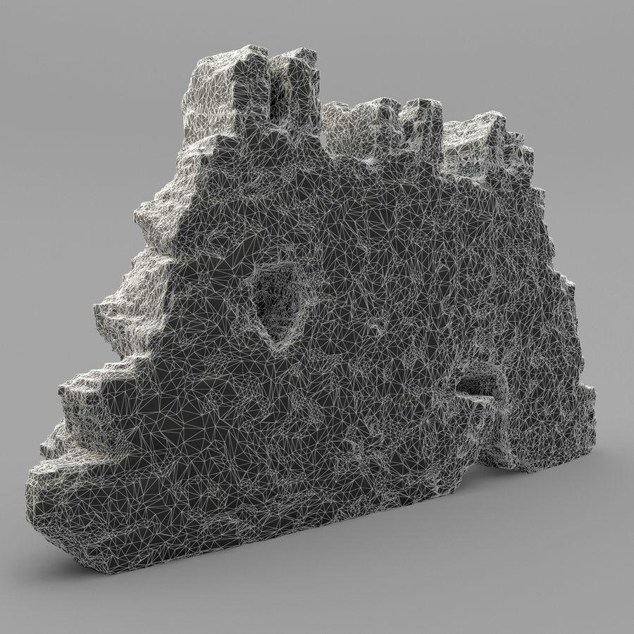 废墟墙 royalty-free 3d model - Preview no. 11