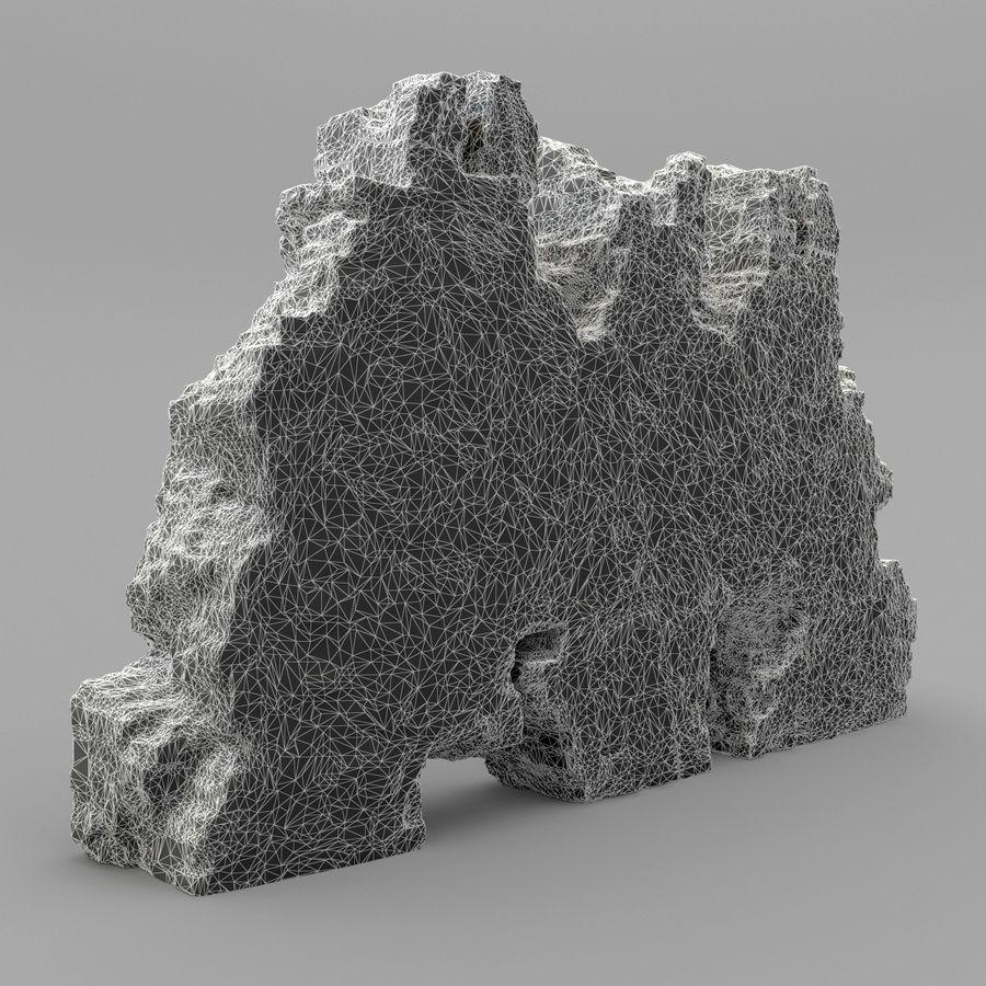 废墟墙 royalty-free 3d model - Preview no. 9