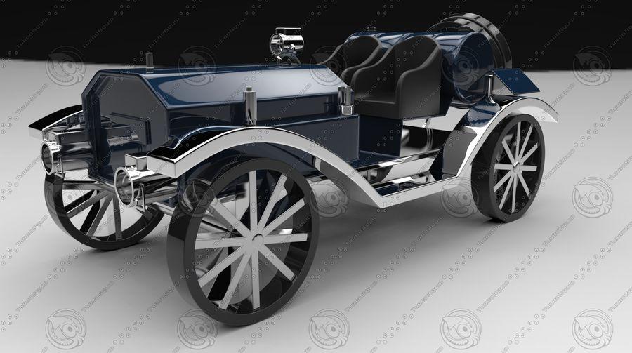 staromodny samochód royalty-free 3d model - Preview no. 3