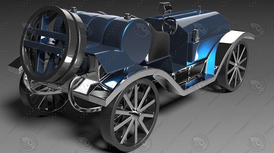 staromodny samochód royalty-free 3d model - Preview no. 4