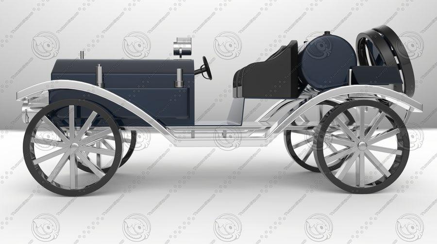 staromodny samochód royalty-free 3d model - Preview no. 5