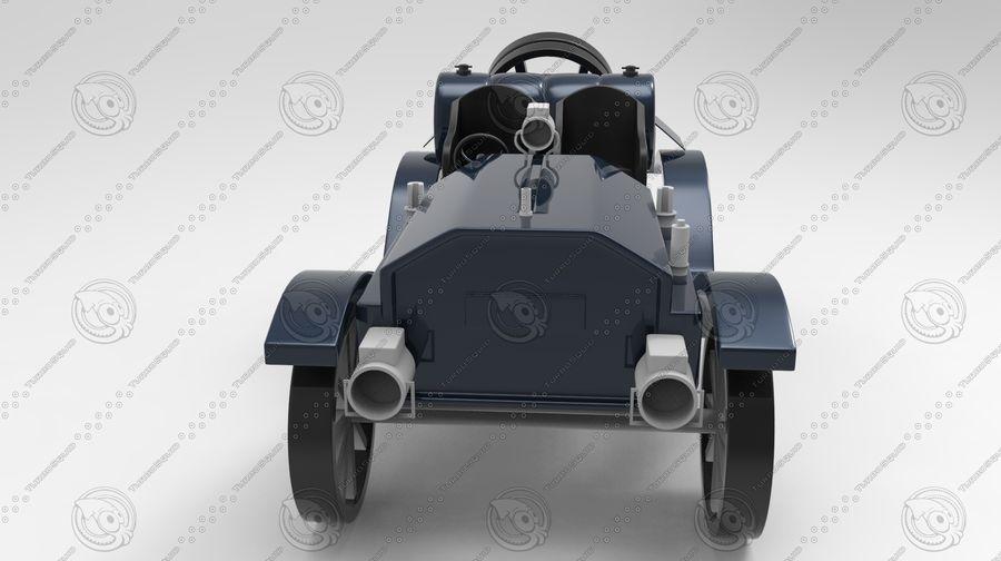 staromodny samochód royalty-free 3d model - Preview no. 1