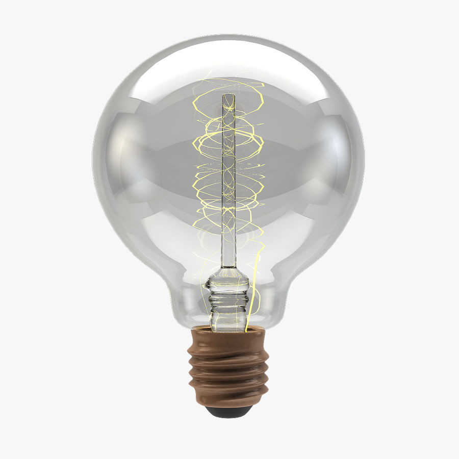 Lampadina vintage G80 royalty-free 3d model - Preview no. 1