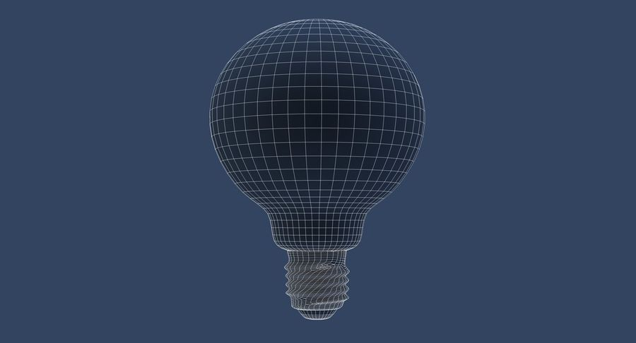 Lampadina vintage G80 royalty-free 3d model - Preview no. 8