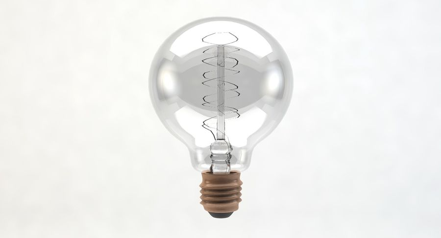 Lampadina vintage G80 royalty-free 3d model - Preview no. 2