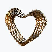 corazón de amor 02 modelo 3d