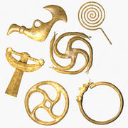 Celtic Brass Ornaments 3d model