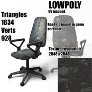 Old  grunge damaged armchair 3d model