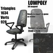 Viejo sillón dañado grunge modelo 3d
