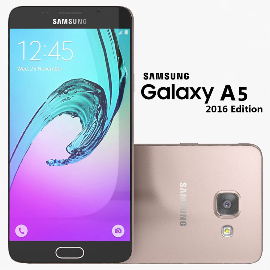 Samsung Galaxy A5 2016 Rosa royalty-free 3d model - Preview no. 1
