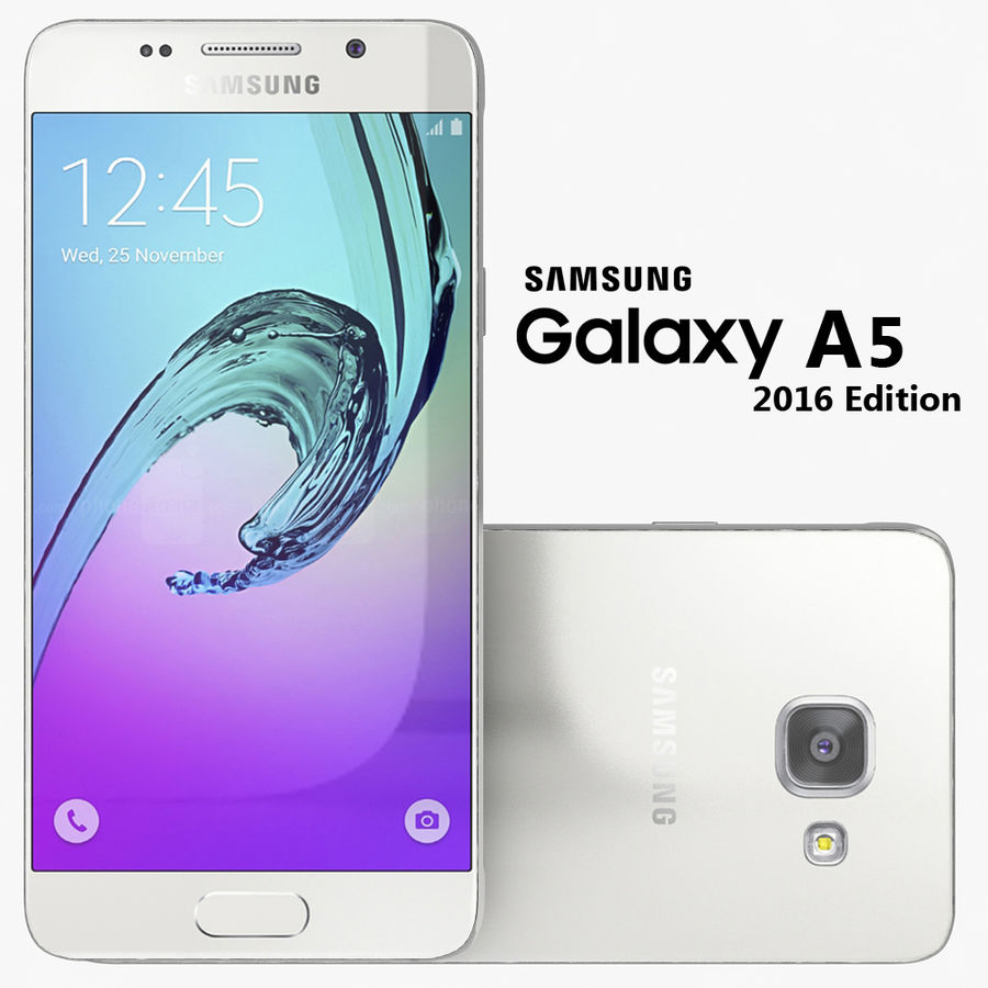 Samsung Galaxy A5 2016 Vit royalty-free 3d model - Preview no. 1