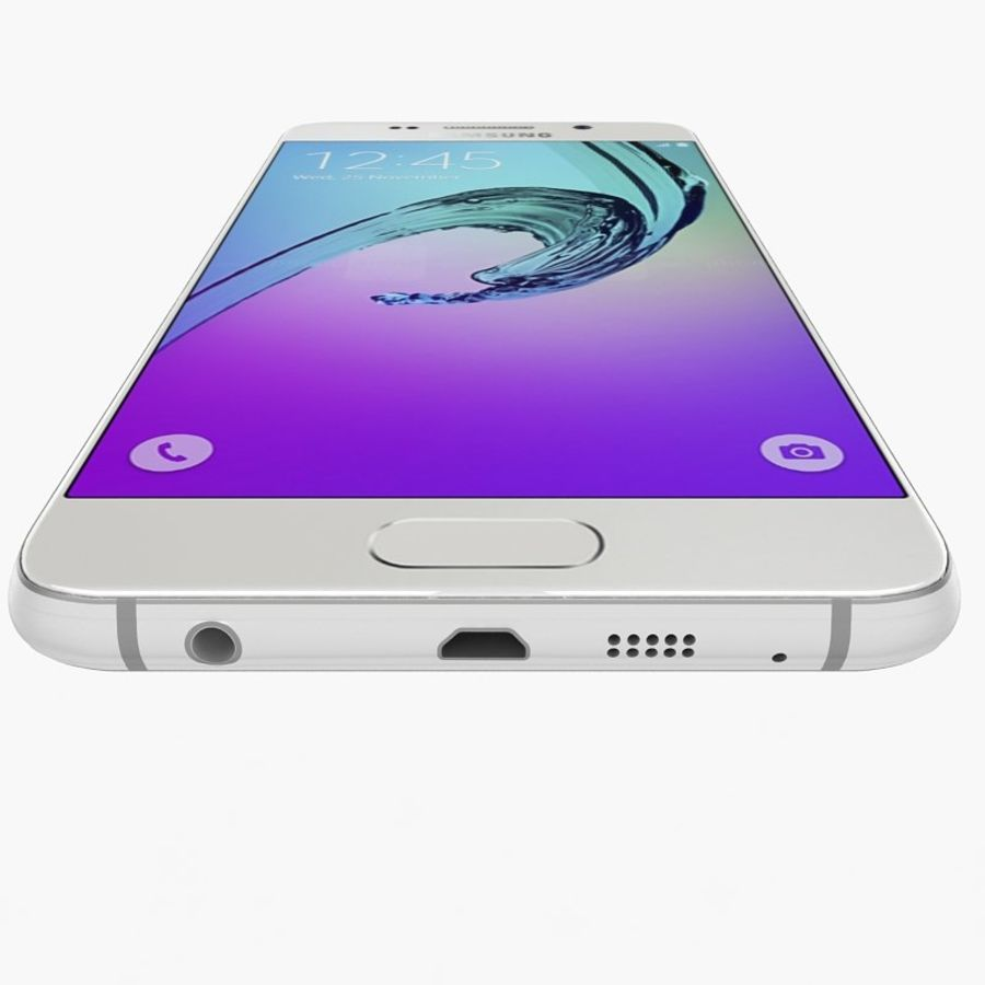 Samsung Galaxy A5 2016 Vit royalty-free 3d model - Preview no. 7