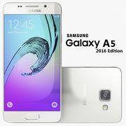 Samsung Galaxy A5 2016 белый 3d model