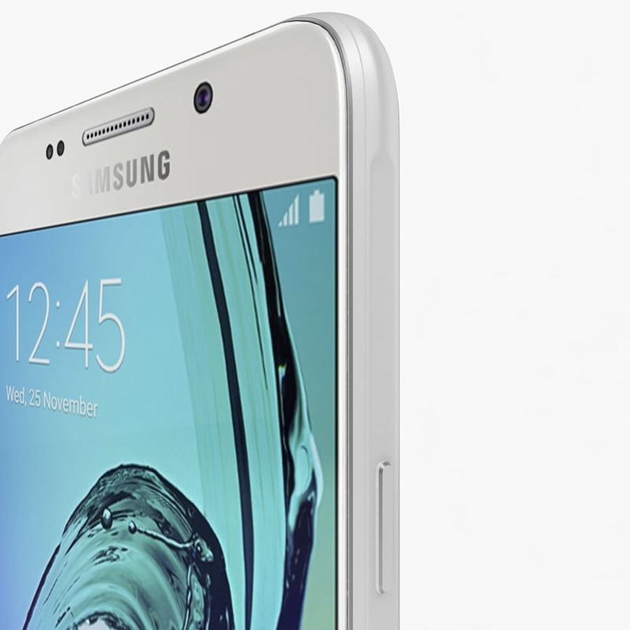 Samsung Galaxy A5 2016 Vit royalty-free 3d model - Preview no. 5