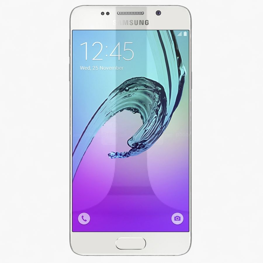Samsung Galaxy A5 2016 Vit royalty-free 3d model - Preview no. 2