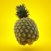 Prawdziwe skanowanie ananasów 3D 3d model