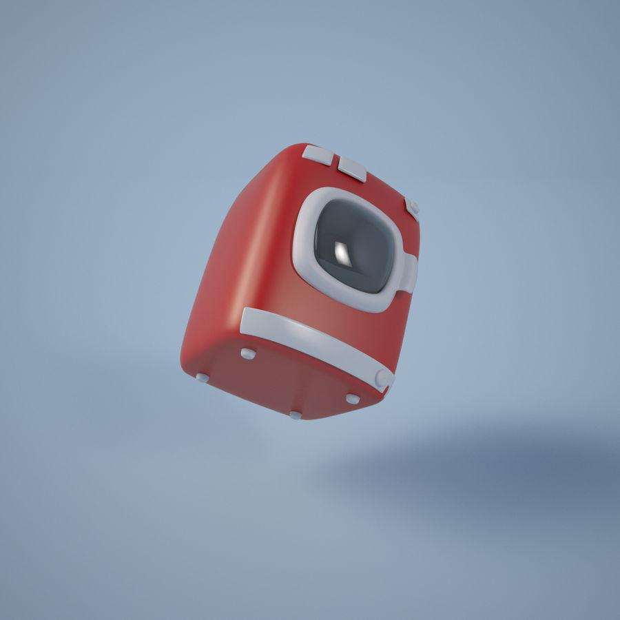 Machine à laver de dessin animé royalty-free 3d model - Preview no. 5