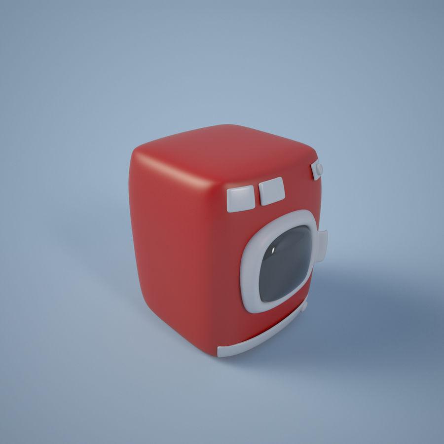 Machine à laver de dessin animé royalty-free 3d model - Preview no. 4