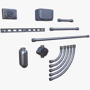 Modulare Leitungen 3d model