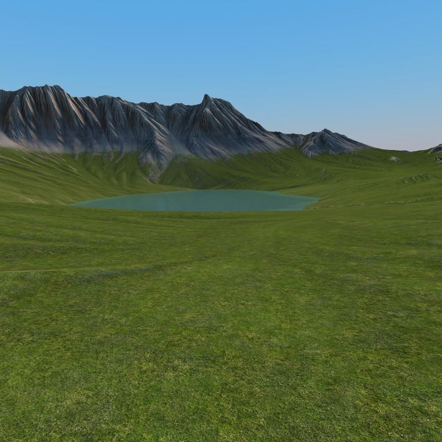 Berglandschap royalty-free 3d model - Preview no. 12