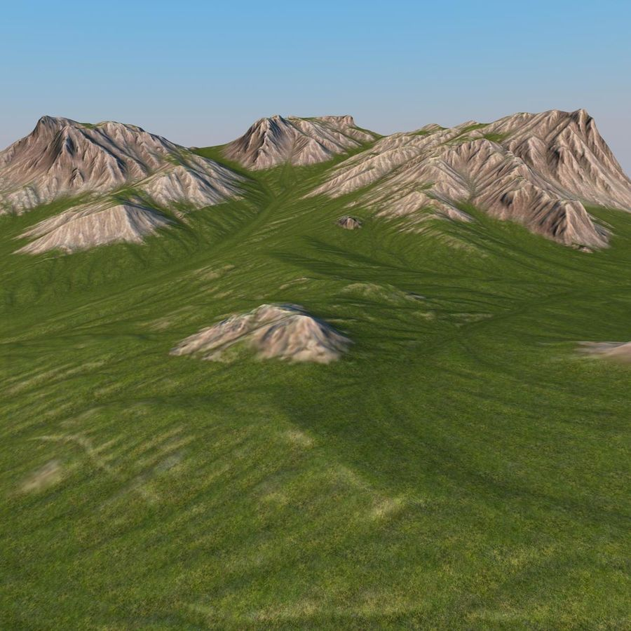 Berglandschaft royalty-free 3d model - Preview no. 11