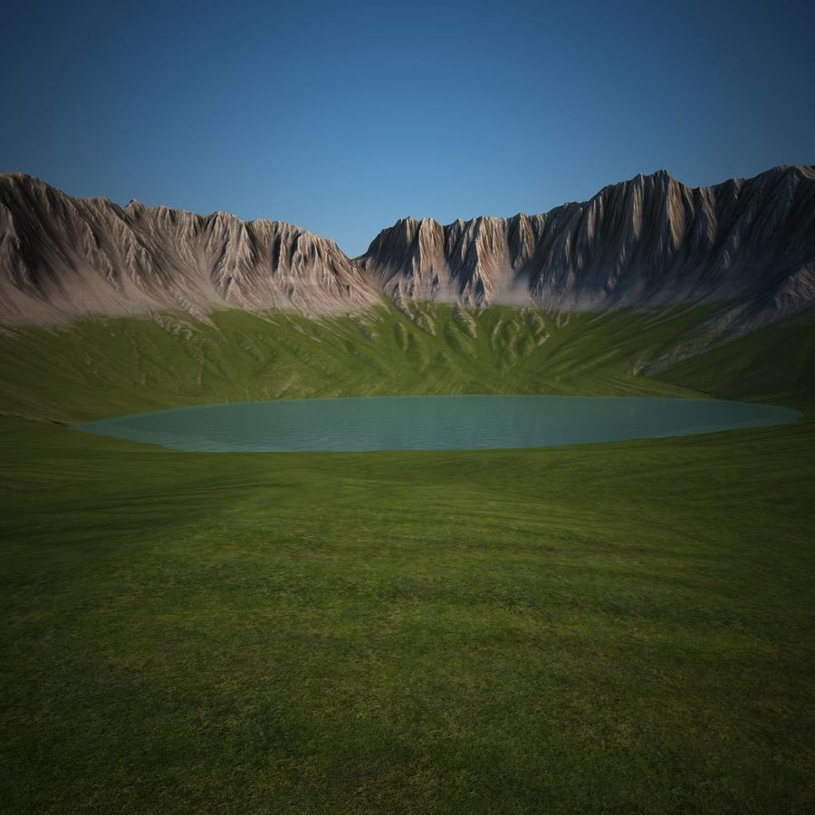 Berglandskap royalty-free 3d model - Preview no. 2