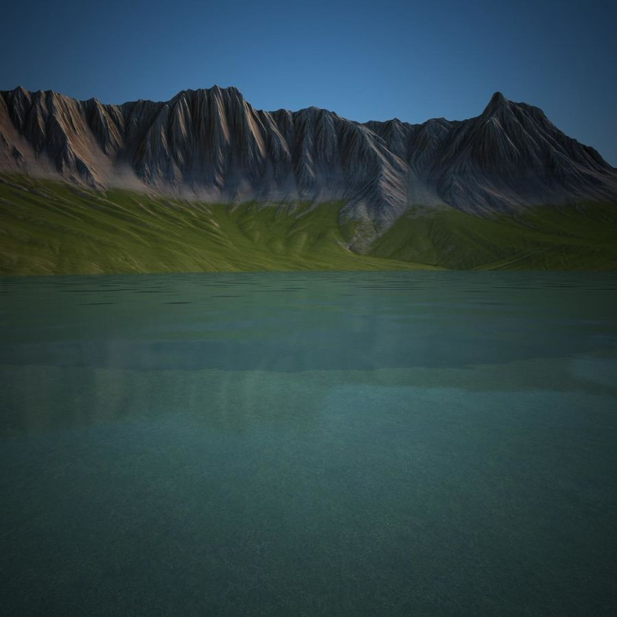 Berglandschaft royalty-free 3d model - Preview no. 18