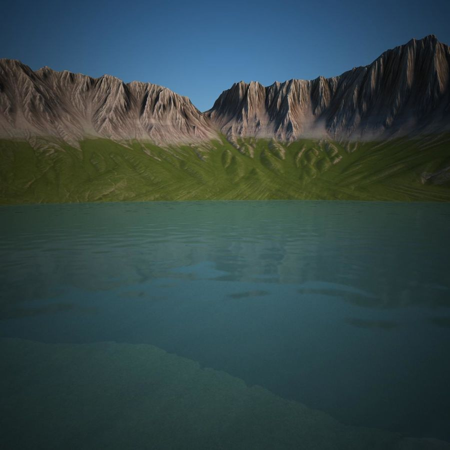 Berglandschaft royalty-free 3d model - Preview no. 5