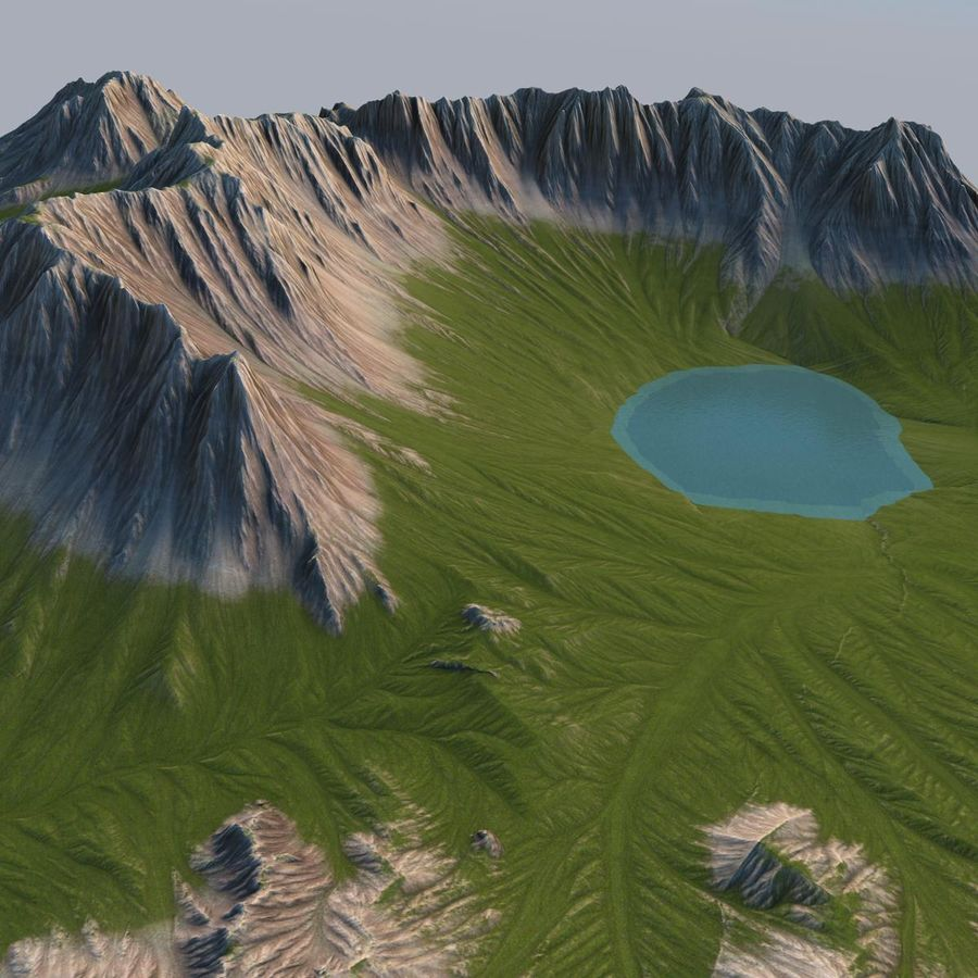 Berglandschaft royalty-free 3d model - Preview no. 9