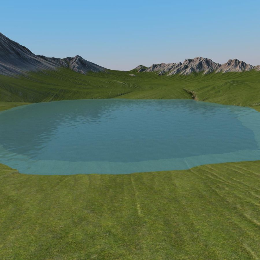 Berglandschaft royalty-free 3d model - Preview no. 14