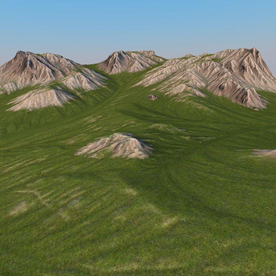 Berglandschap royalty-free 3d model - Preview no. 11