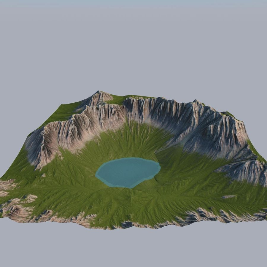 Berglandschap royalty-free 3d model - Preview no. 16