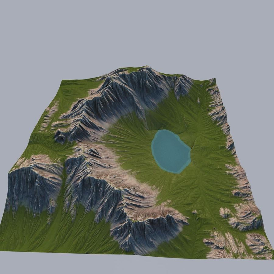Berglandschap royalty-free 3d model - Preview no. 7