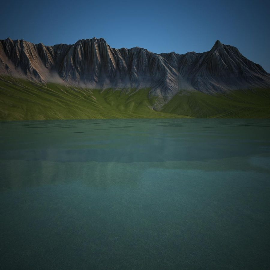 Berglandschap royalty-free 3d model - Preview no. 18