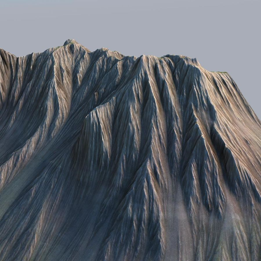 Berglandschaft royalty-free 3d model - Preview no. 6