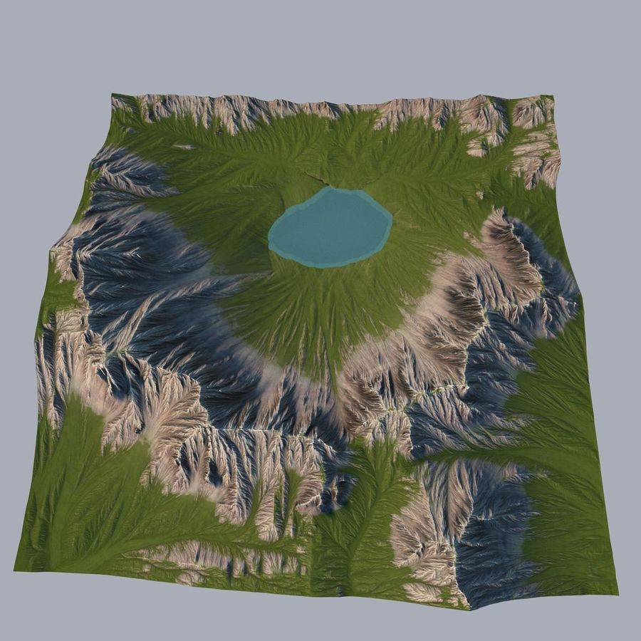 Berglandschaft royalty-free 3d model - Preview no. 17