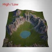 山の風景 3d model