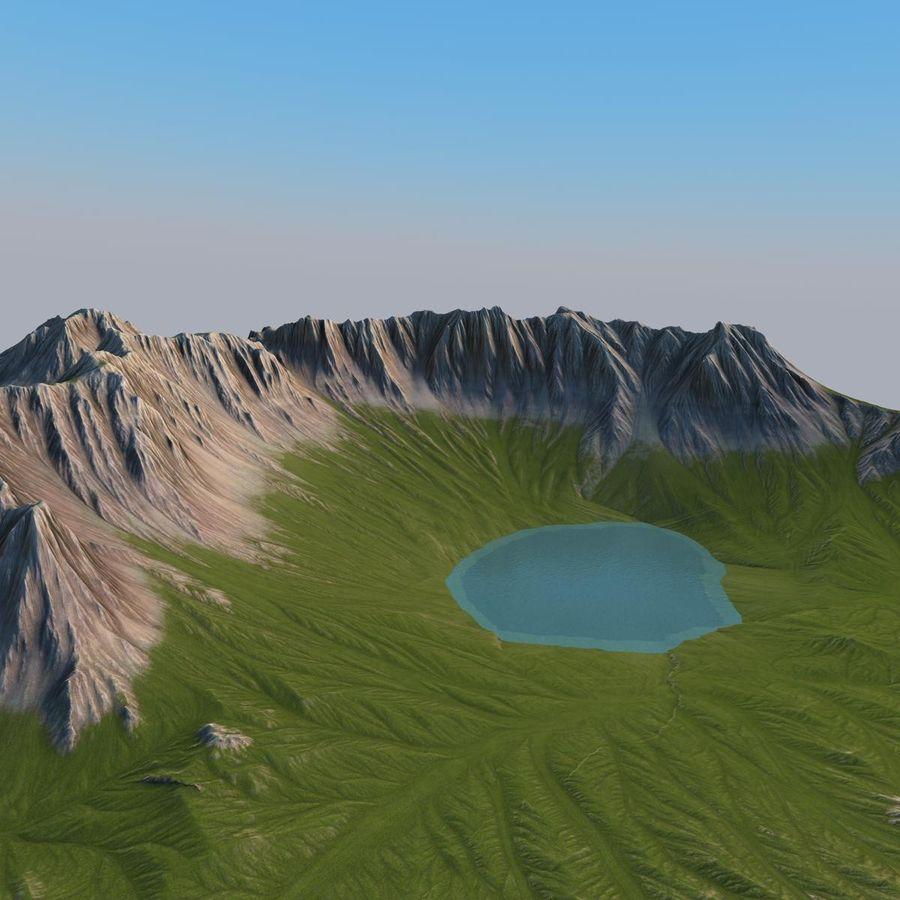 Berglandskap royalty-free 3d model - Preview no. 3