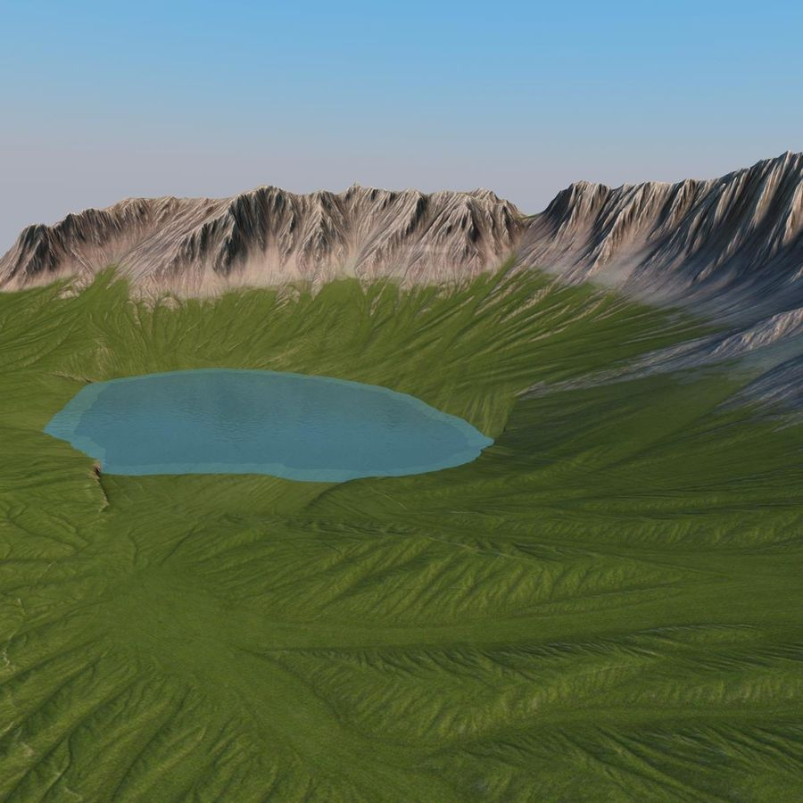 Berglandschaft royalty-free 3d model - Preview no. 13