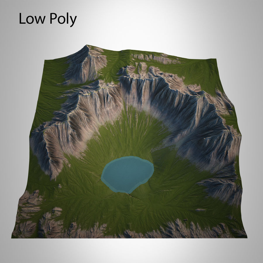 Berglandschaft royalty-free 3d model - Preview no. 20