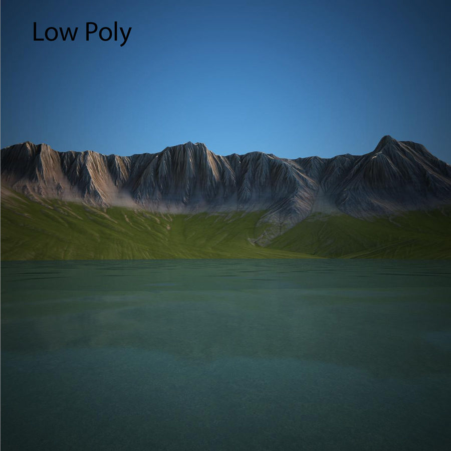 Berglandschaft royalty-free 3d model - Preview no. 22